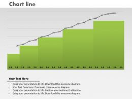 0414 Column Chart With Growth Line Powerpoint Graph