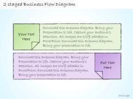 0414 Consulting Diagram 2 Staged Business Flow Diagram Powerpoint Template