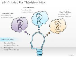 0414 Consulting Diagram 3d Graphic For Thinking Man Powerpoint Template