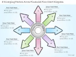0414 Consulting Diagram 8 Diverging Factors Arrow Financial Flow Chart Diagram Powerpoint Template