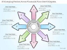 0414_consulting_diagram_8_diverging_factors_arrow_financial_flow_chart_diagram_powerpoint_template_Slide01