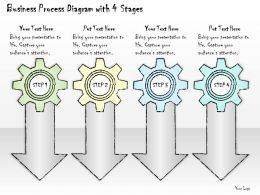 0414 Consulting Diagram Business Process Diagram With 4 Stages Powerpoint Template