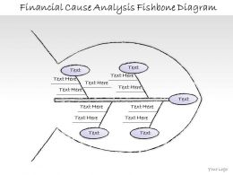 0414 Consulting Diagram Financial Cause Analysis Fishbone Diagram Powerpoint Template