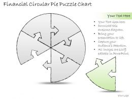 0414 Consulting Diagram Financial Circular Pie Puzzle Chart Powerpoint Template