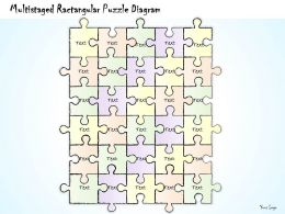 0414 Consulting Diagram Multistaged Ractangular Puzzle Diagram Powerpoint Template