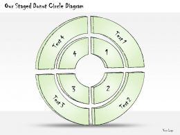 0414 Consulting Diagram Our Staged Donut Circle Diagram Powerpoint Template