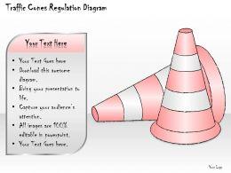 0414 Consulting Diagram Traffic Cones Regulation Diagram Powerpoint Template