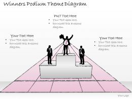 0414 Consulting Diagram Winners Podium Theme Diagram Powerpoint Template