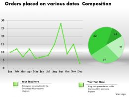 0414 Data Composition Line Pie Chart Powerpoint Graph