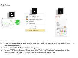 0414 Data Composition Line Pie Chart Powerpoint Graph