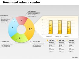 0414 Donut And Column Business Charts Powerpoint Graph