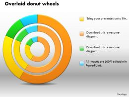 0414 Donut Chart Wheels Business Design Powerpoint Graph