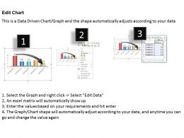 0414 Down Arrow On Column Chart Powerpoint Graph