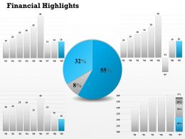 0414 Financial Pie And Bar Graph Diagram
