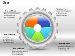 0414 Gears Pie Chart Business Illustration Powerpoint Graph