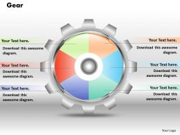 0414 Gears Pie Chart Marketing Layout Powerpoint Graph