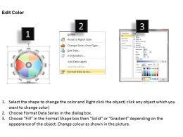 0414 Gears Pie Chart Marketing Layout Powerpoint Graph