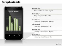 0414 Graph Mobile Column Chart Design Powerpoint Graph