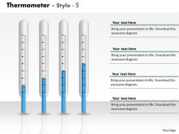 0414 Graphics Of Thermometer Column Chart Powerpoint Graph