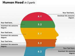 0414 Human Head Ratio Bar Chart Powerpoint Graph