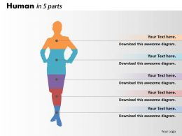 0414 Human Parts Column Chart Design Powerpoint Graph
