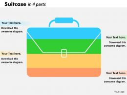 0414 Illustration Of Suitcase Bar Chart Powerpoint Graph
