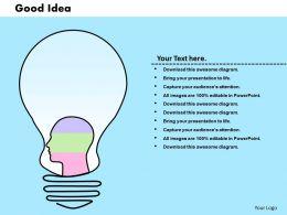 0414 Innovative Brain Idea Bar Chart Powerpoint Graph