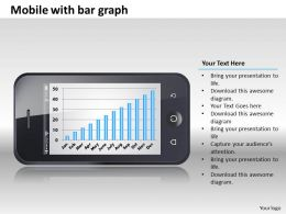 0414 Mobile Bar Graph Column Chart Powerpoint Graph