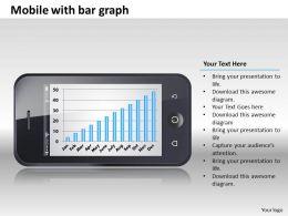 0414 Mobile Bar Graph Column Chart Powerpoint Graph