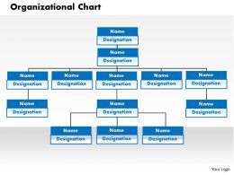 0414 Organization Chart In PowerPoint Presentation