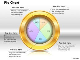 0414 Percetage Profit Ratio Pie Chart Powerpoint Graph