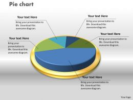 0414 Pie Chart Business Design Layout Powerpoint Graph