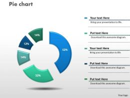 0414 Pie Chart Data Driven Layout Powerpoint Graph