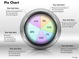 0414 Pie Chart To Compare Data Powerpoint Graph