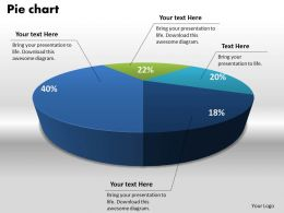 0414 Pie Chart With Four Sections Powerpoint Graph