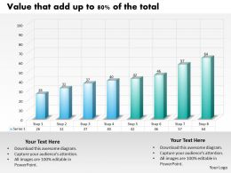 0414 Progress in 8 Steps Column Chart Powerpoint Graph