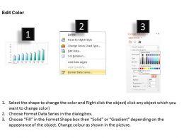 0414 Progress in 8 Steps Column Chart Powerpoint Graph