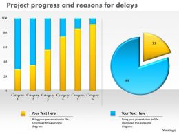 0414_project_progress_with_column_and_pie_chart_powerpoint_graph_Slide01
