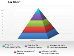 0414 Pyramid Style Column Chart Powerpoint Graph