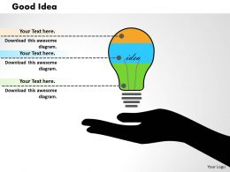 0414 Rapid Idea Generation Bar Chart Powerpoint Graph