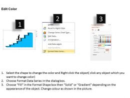 0414 Running Person On Column Chart Powerpoint Graph