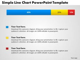 0414 Simple Bar Chart With Percentage Powerpoint Graph