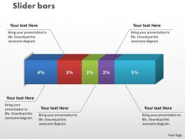0414 Slider Bar Chart Data Driven Graphics Powerpoint Graph