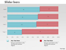 0414 Slider Bar Chart For Data Sets Powerpoint Graph
