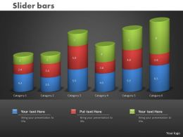 0414 Slider Bar Graph Column Chart Powerpoint Graph