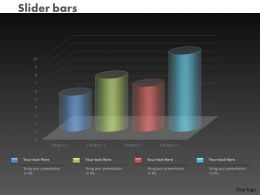0414 Slider Column Chart Data Illustration Powerpoint Graph
