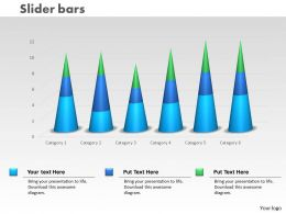 0414 Slider Column Chart For Business Trends Powerpoint Graph