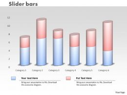 0414 Slider Column Chart For Data Series Powerpoint Graph