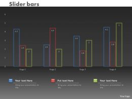 0414 Slider Column Chart For Market Trends Powerpoint Graph