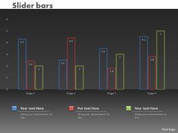0414 Slider Column Chart For Market Trends Powerpoint Graph